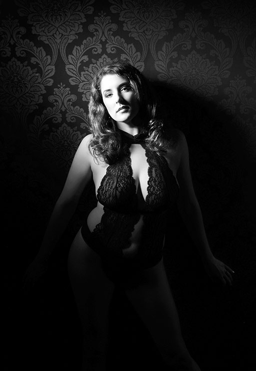 beautiful black and White Boudoir Photography